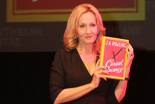 J.K. Rowling and Mark Lawson at Southbank Centre for the launch of her first novel for adults, The Casual Vacancy