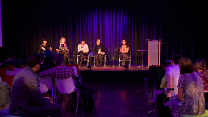 Photo of a talk to promote Where next for music? at Southbank Centre