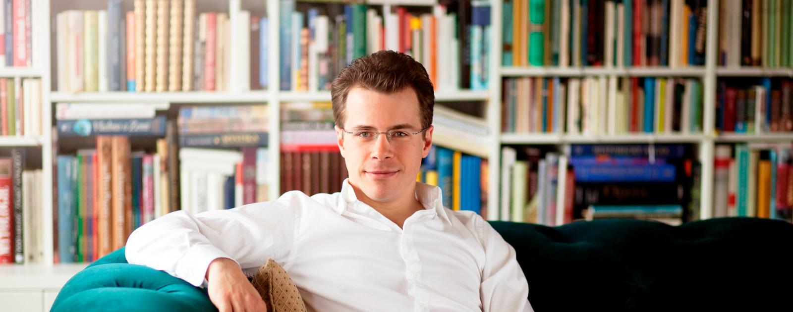 Portrait of Conductor, Jakub Hrusa from the Philharmonia Ochestra