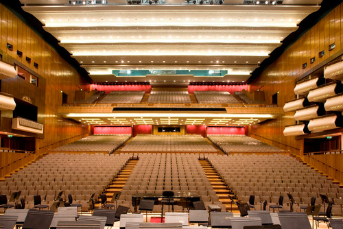 Empty view of the auditorium at the Royal Festival Hall, Southbank Centre