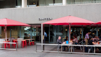 Exterior view of Canteen restaurant at the Southbank Centre