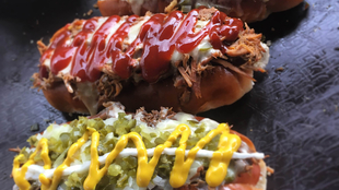 Hot dogs from Oh My Dog! at Southbank Centre