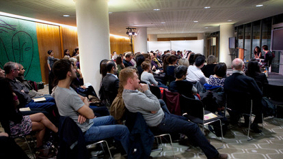 Photo of a talk at Southbank Centre