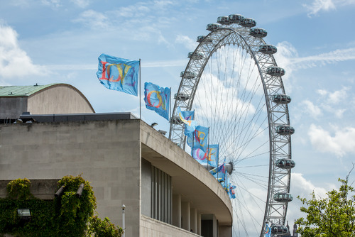 Photo of Love Flags on Royal Festival Hall at Southbank Centre