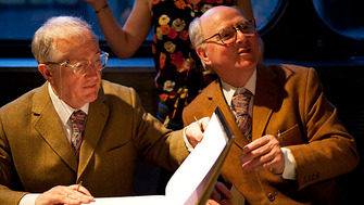 Gilbert & George at the London Literature Festival 2011