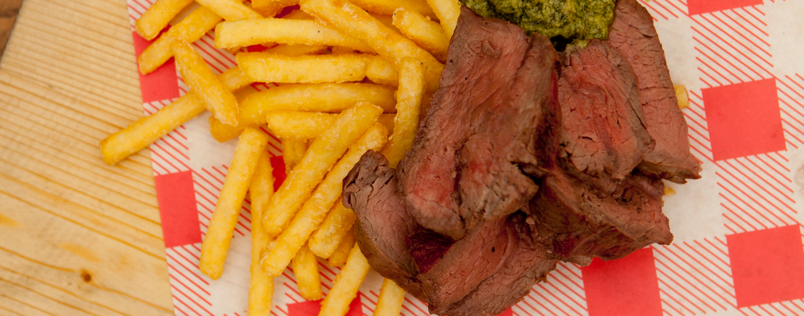 Steak and chips at The BBQ Club at Southbank Centre