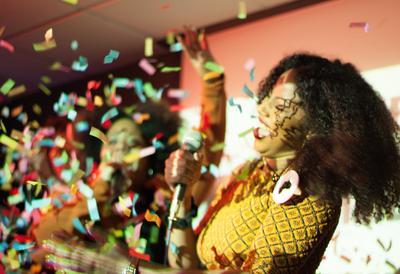 Performer at Reggaeoke at Southbank Centre