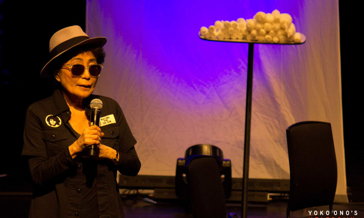 Yoko Ono performing at Yoko Ono's Meltdown