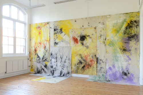 Image of Jessica Warboys' Sea Paintings Spurn Point, Skateraw Bay, Dunwich