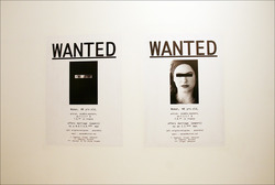 WANTED Installation View by artist, Ghazel at Laughing in a Foreign Language Exhibition Hayward Gallery