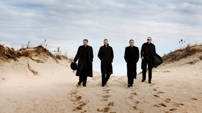 Image of Emerson String Quartet on Beach