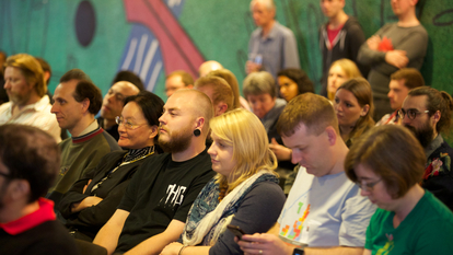 Audience at Web We Want Festival