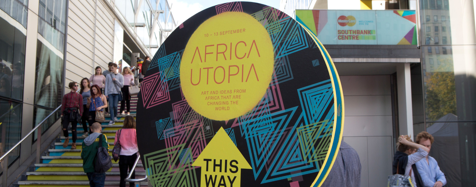 Sign for Africa Utopia Festival 2015 at the Southbank Centre