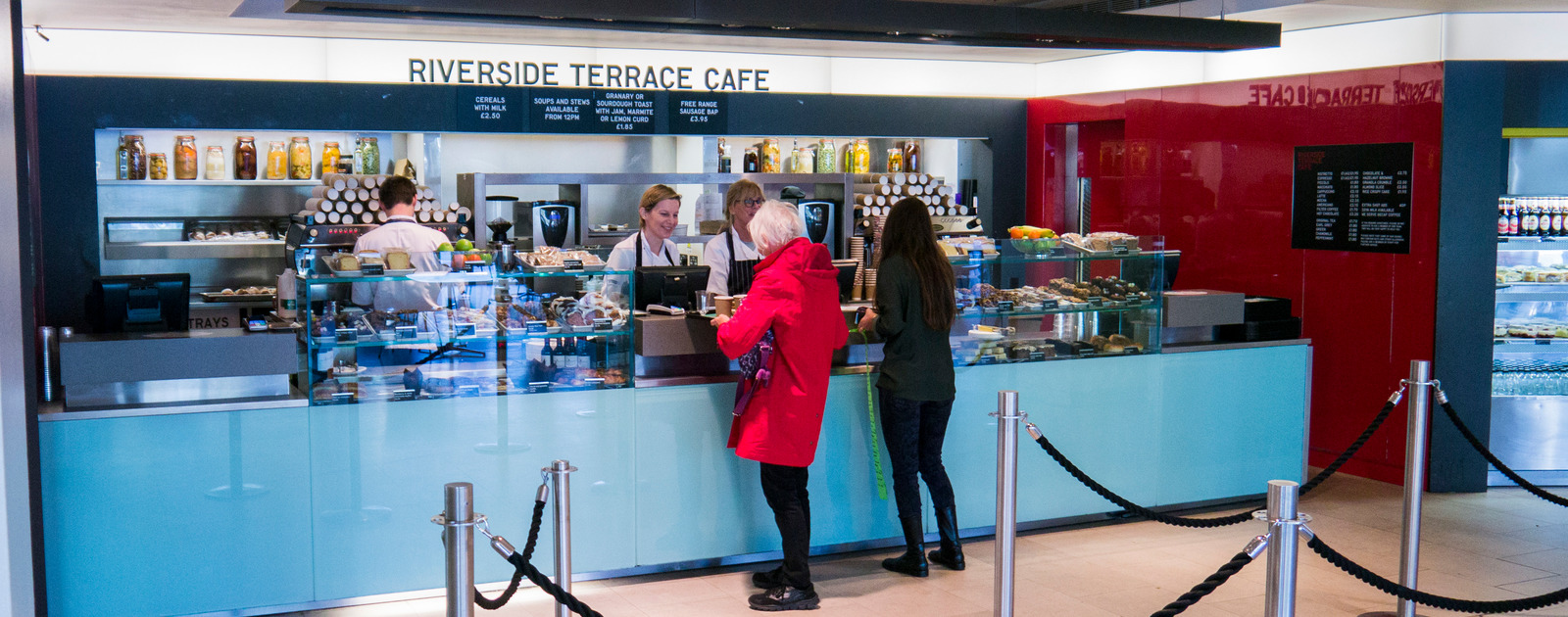 Interior view of the Riverside Terrace Cafe at the Southbank Centre