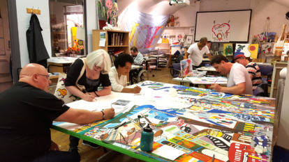 People Painting at Craft Workshop