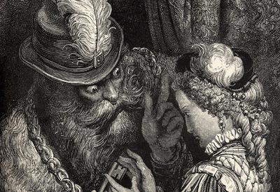 Illustration of  Duke Bluebeard and Judith