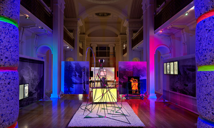 Benedict Drew's Sequencer (2015) installed at Talbot Rice Gallery, Edinburgh, as part of British Art Show 8, a Hayward Touring exhibition.