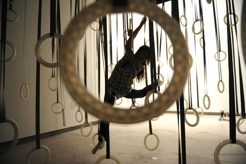Dancer on Hoops by artist, William Forsyth at Hayward Gallery