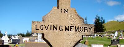 In Loving Memory headstone