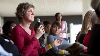 Audience Member Speaking