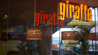 Interior view of GIraffe at the Southbank Centre