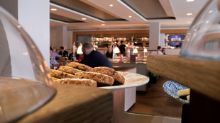 Interior view of Canteen restaurant at the Southbank Centre