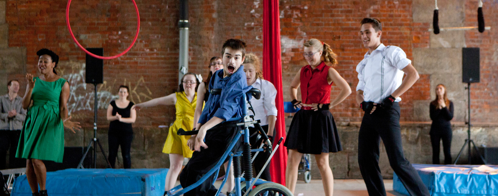 Boy in Wheelchair performing at Unlimited Festival