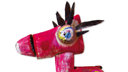 Colourful Sculpture of a donkey