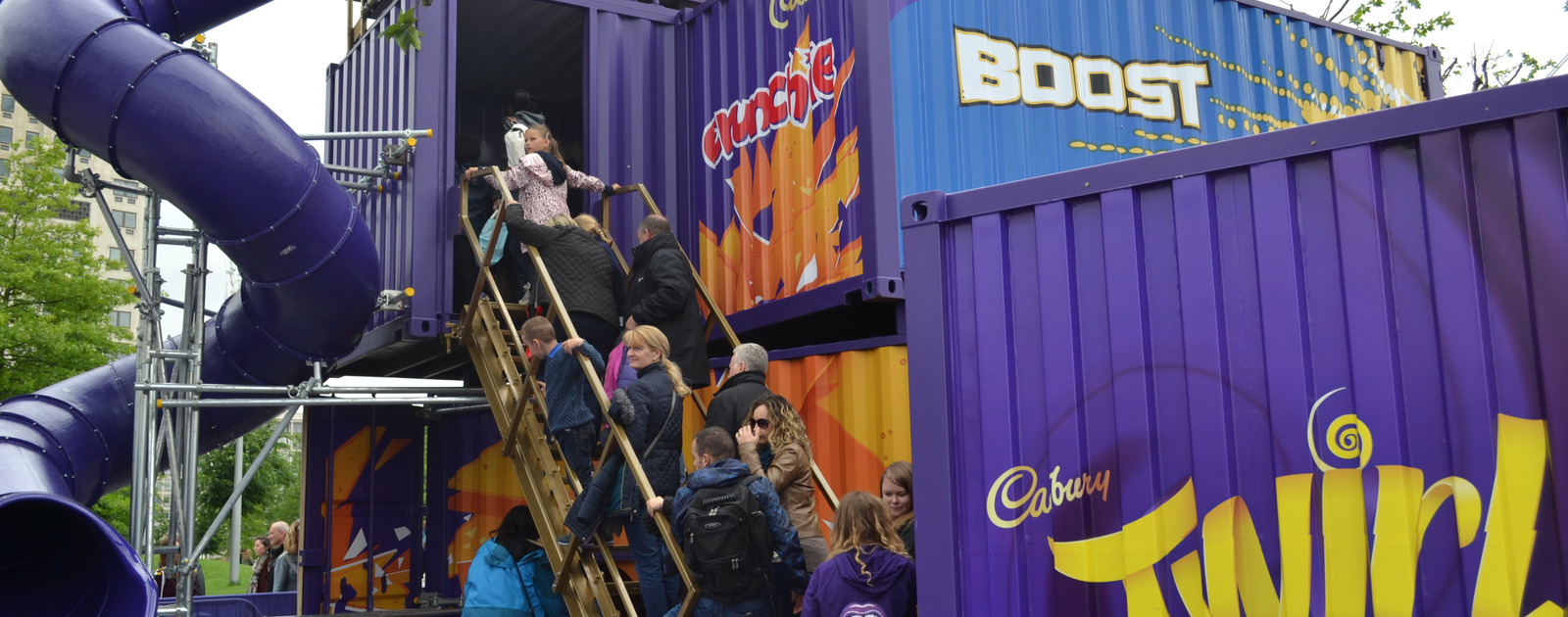 People enjoying a Cadbury's experience at the Southbank Centre
