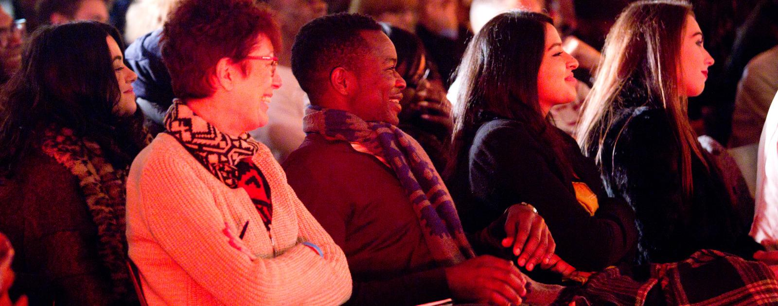 Audience Members Smiling