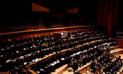 Bach Choir on Stage
