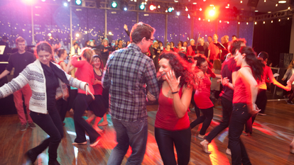 Photo of ceilidh dancers at Southbank Centre