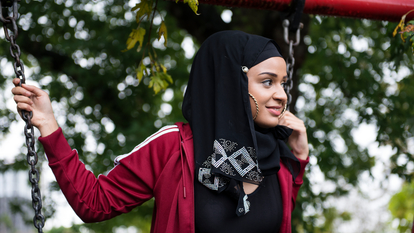 A young lady on a swing, The Diary of a Hounslow Girl