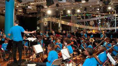 Youth Orchestraplaying the Lambeth Winter Show