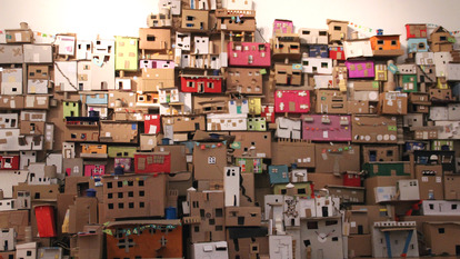 Cardboard Box City Installation