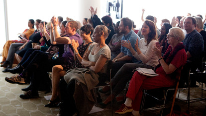 Applauding Audience at Talk