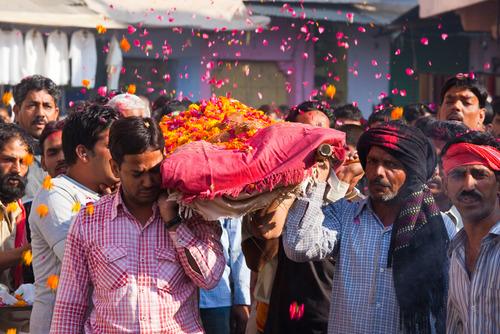 BFA3TA Indian funeral in Pushkar India. Image shot 2009. Exact date unknown.
