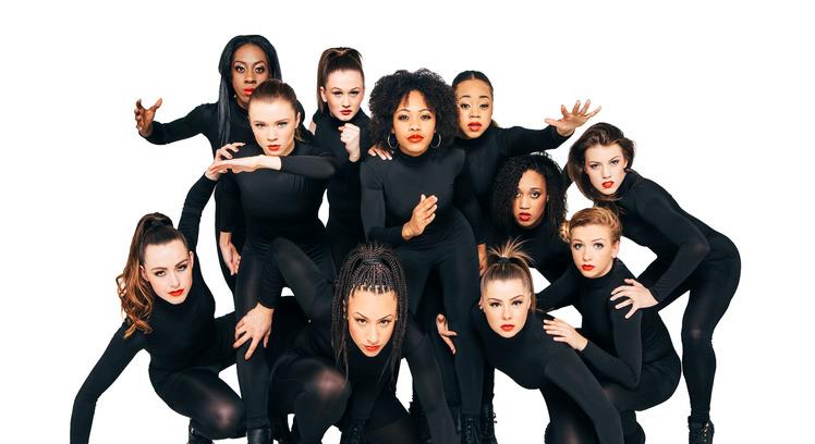 Female Hip-Hop dancers