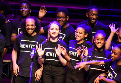 Young singers on stage