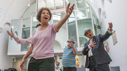 Performers from Big Sing and Act with Streetwise Opera