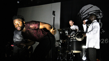 Band, Young Fathers performing