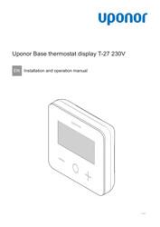 IOM Base thermostat display T-27 230V EN 1120503 v2