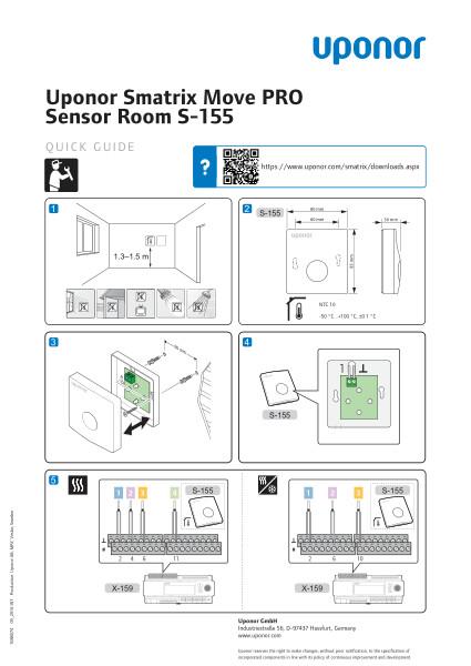Uponor Smatrix Move PRO Room sensor quick guide