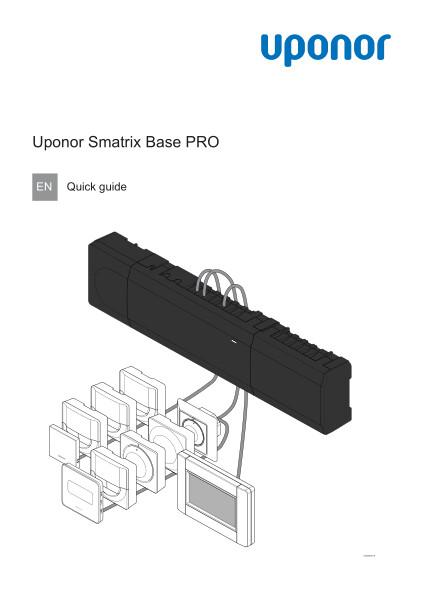 Uponor Smatrix Base PRO quick guide