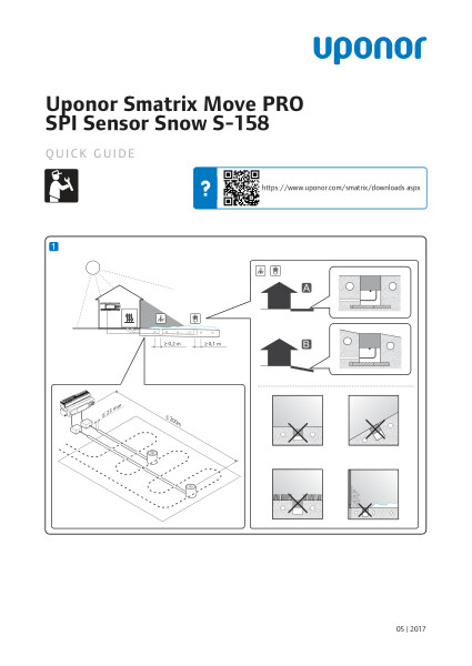Uponor Smatrix Move PRO Snow Sensor quick guide