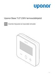 IOM Base thermostat display T-27 230V HU 1121142 v2 202108 sc