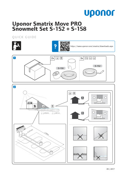 Uponor Smatrix Move PRO Snowmelt Set quick guide