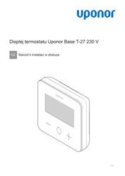 IOM Base thermostat display T-27 230V CZ 1121136 v2