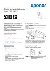 PI Base thermostat display T-27 230V CZ 1121259 v2