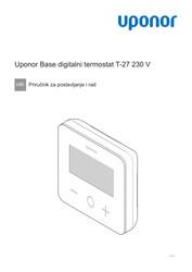 IOM Base thermostat display T-27 230 V HR 1121141 v2
